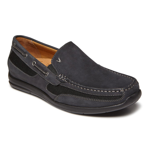 Vionic Earl Slip On in Black - Right 3/4 View