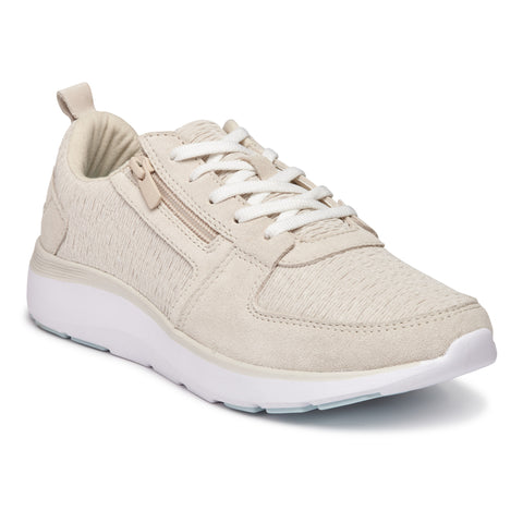 Vionic Remi Casual Sneaker in Cream - Right 3/4 View
