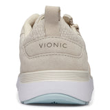 Vionic Remi Casual Sneaker in Cream - Rear View