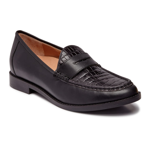 Vionic Waverly Croc in Black - Right 3/4 View