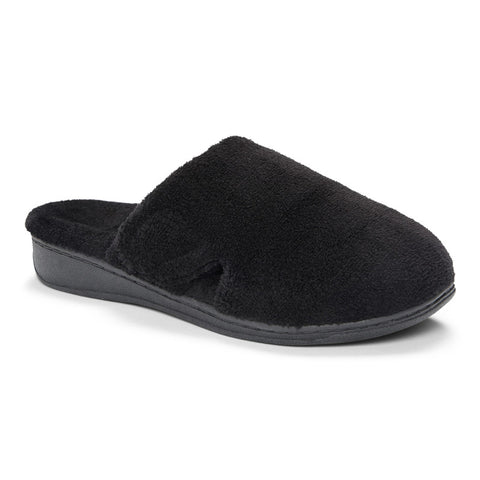 Vionic Gemma Slipper in Black - Right 3/4 View