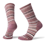 Smartwool Women's Ethno Graphic Crew in Nostalgia Rose Heather