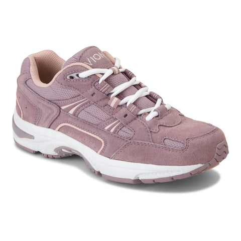 Vionic Women's Classic Walker in Mauve Suede - Right 3/4 View