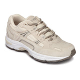 Vionic Women's Classic Walker in Cream Suede - Right 3/4 View
