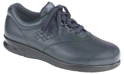 SAS Freetime in Navy Leather - Right 3/4 View