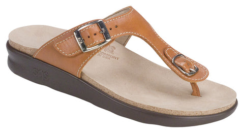 SAS Sanibel in Caramel Leather - Right 3/4 View
