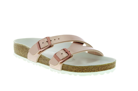 Birkenstock Yao in Metallic Copper Birko-flor