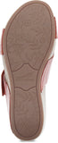 Dansko Lacee in Coral Burnished Calf Leather - Bottom View