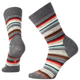 Smartwool Women's Margarita Socks in Medium Gray Heather/Bright Coral