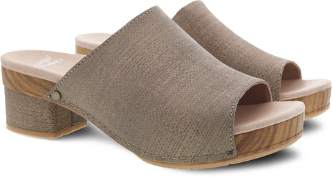 Dansko Maci in Taupe Textured Leather - Pair