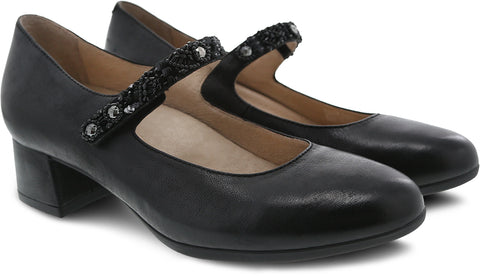 Dansko Pearlina in Black Burnished Nubuck - Pair