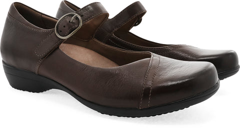 Dansko Fawna in Chocolate Burnished Calf - Pair