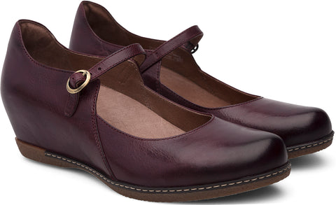 Dansko Loralie in Wine Burnished Calf - Pair