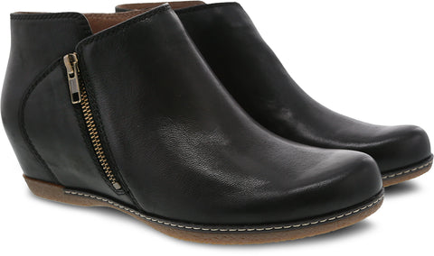 Dansko Leyla in Black Burnished Nubuck - Pair