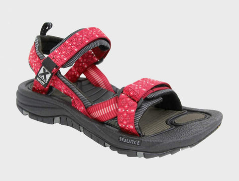 Naot Womens Harbor in Red Diamonds