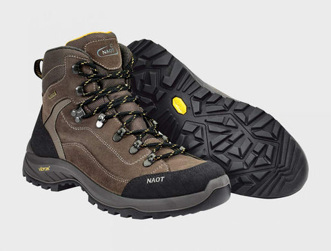 Naot Hiker Boot in Black / Tan / Gray