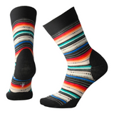 Smartwool Women's Margarita Socks in Black / Multi Stripe