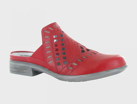 Naot Sharkia in Kiss Red Leather
