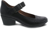 Dansko Roxanne in Black Burnished Nubuck - Side View