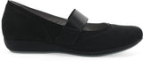 Dansko Kendra in Black Milled Nubuck - Side View