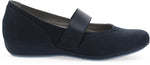 Dansko Kendra in Navy Milled Nubuck - Side View