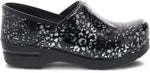 Dansko Professional Clog in Pewter Leopard Patent - Side View
