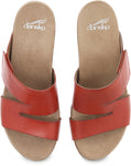 Dansko Lacee in Coral Burnished Calf Leather - Top View