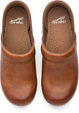 Dansko Professional in Honey Distressed - Top View