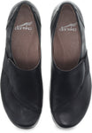 Dansko Fae in Black Burnished Nubuck - Top View