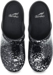 Dansko Professional Clog in Pewter Leopard Patent - Top View