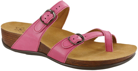 SAS Shelly in Passion Pink Leather - Right 3/4 View