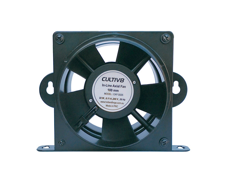 100MM BLACK CULTIV8 INLINE FAN | 100 M3/H