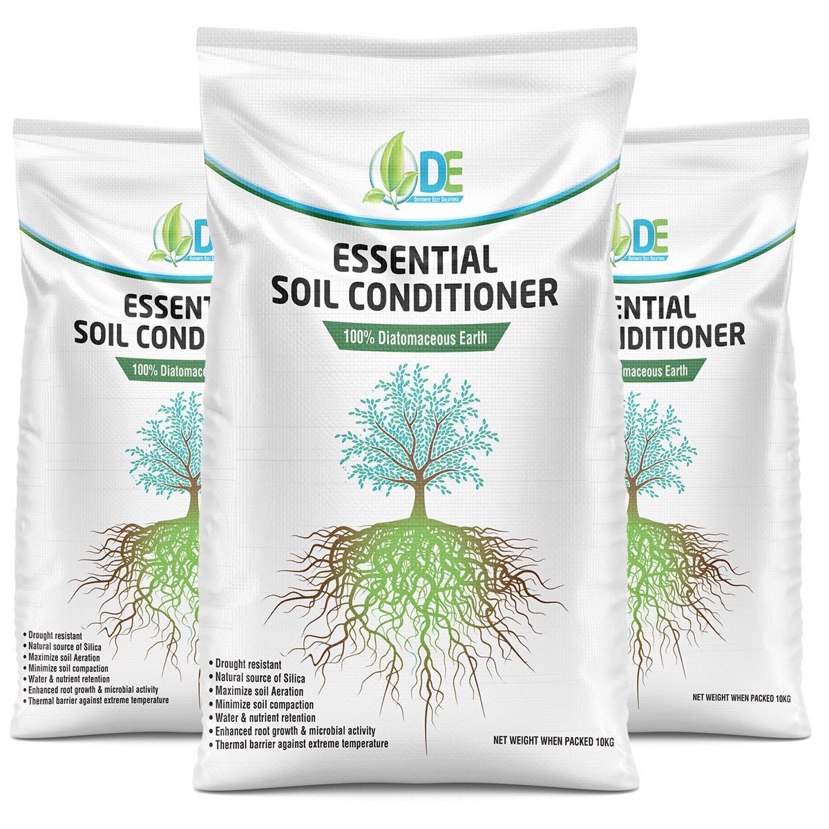 DE ESSENTIAL SOIL CONDITIONER | DIATOMACEOUS EARTH | ROOT ENHANCER 10KG BAG