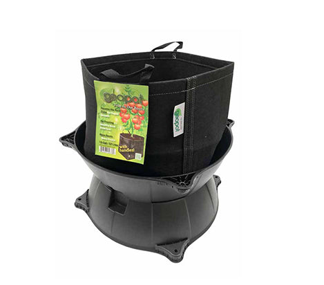 G-POT 480MM KIT SET | BASE, TOP, GRID INSERT | DRAINAGE TRAYS FOR AIR PRUNING POTS