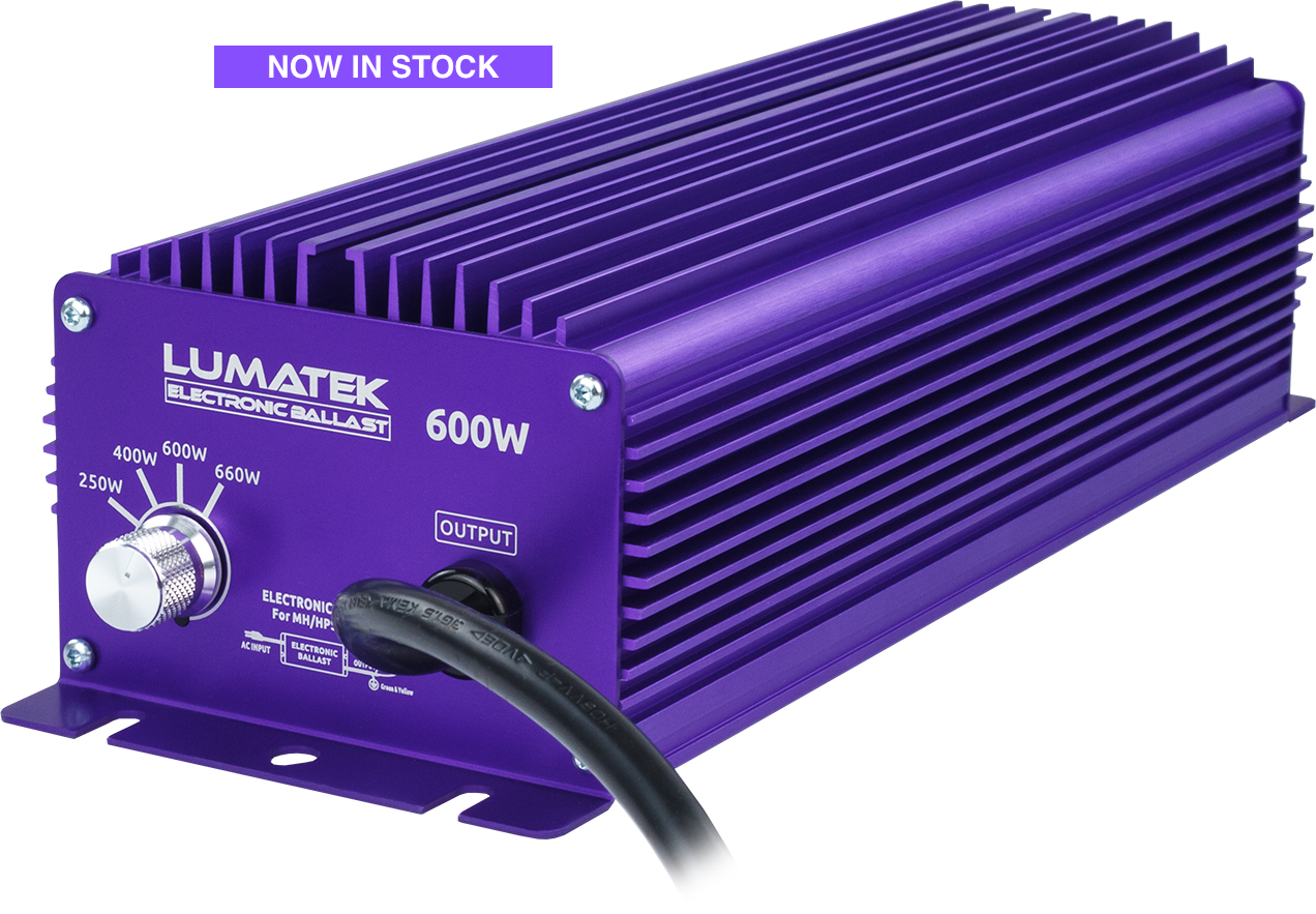 LUMATEK DIGITAL CONTROLLABLE BALLAST - 600W | DIMMABLE | 240V | HPS & MH