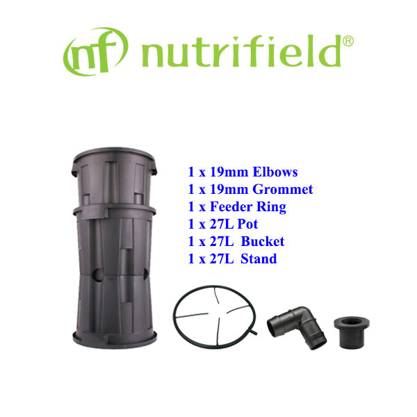 NUTRIFIELD PRO POT 27L SET | [BUCKET, MESH POT, STAND]