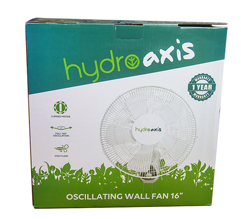 Oscillating Wall Fan Hydro Axis 40cm 5 blade 60w