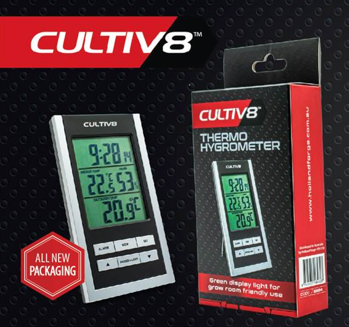 Cultiv8 Digital Thermometer/Hygrometer