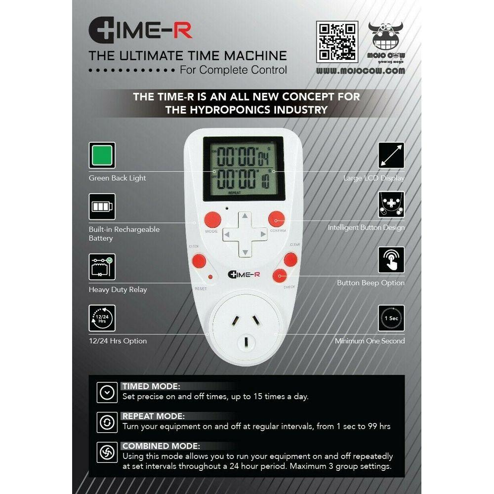 Time-R Digital Timer - Sec/Mins/Hrs | The Next Generation Plug & Play Timer