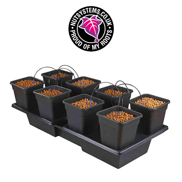 Wilma Wide XL8 | 8 Pot System | 8x18L | 180L Reservoir | 190x90cm