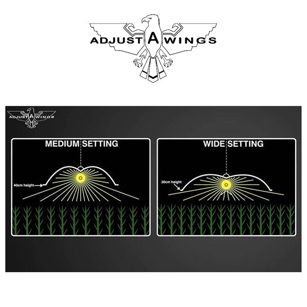 Adjust-A-Wing DEFENDER Large 100x70cm WHITE with SE Lamp Holder