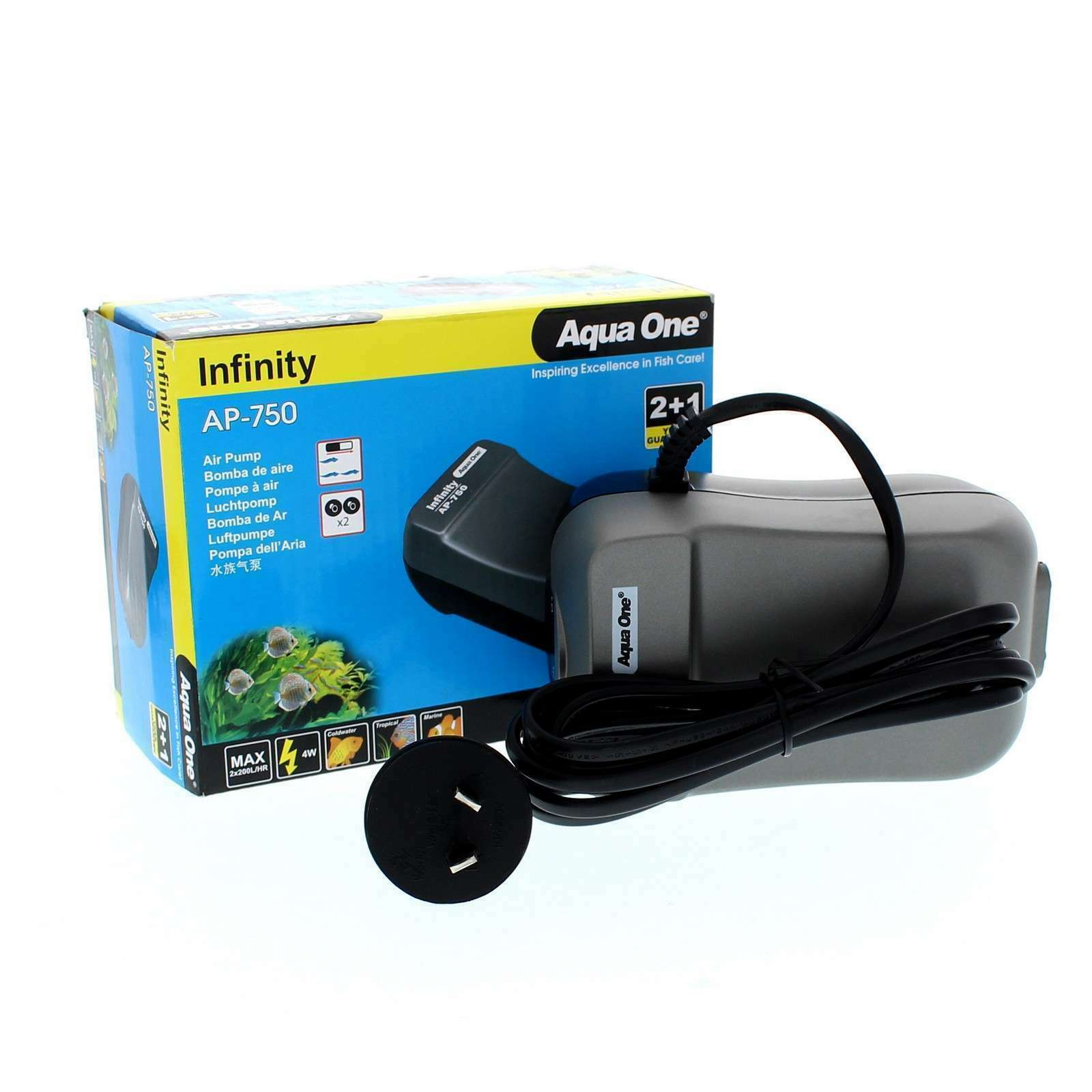 Air Pump Infinity AP750 2 x 200L/Hr - Double