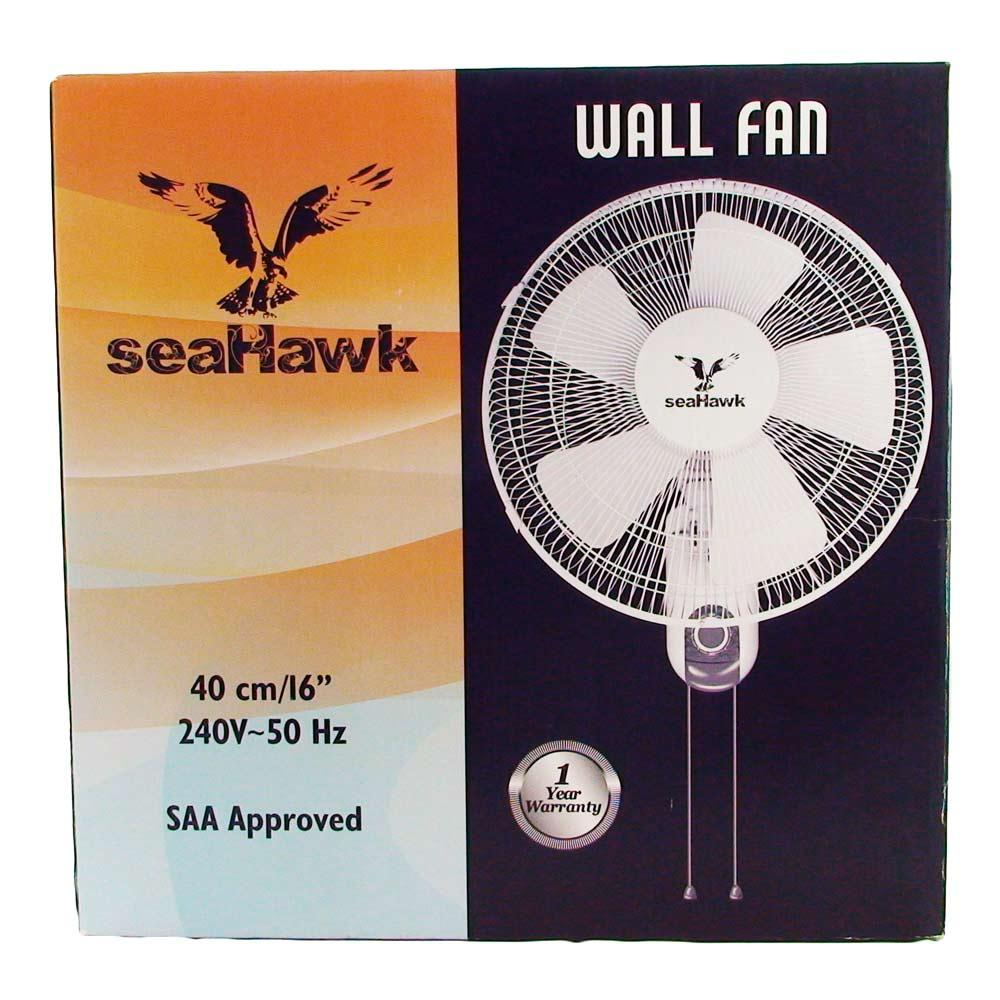 Seahawk Oscillating Wall Fan 40cm 5 blade 50w