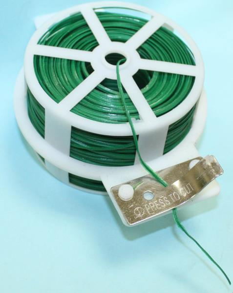 TWIST TIE WIRE GREEN 30M X 2MM WITH CUTTER | PLUS EXTRA ROLL