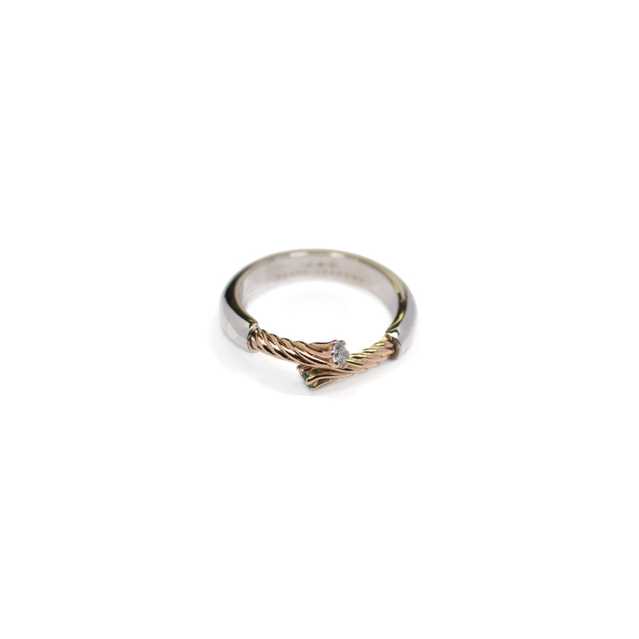 Ring 404 Double Gold & Diamonds