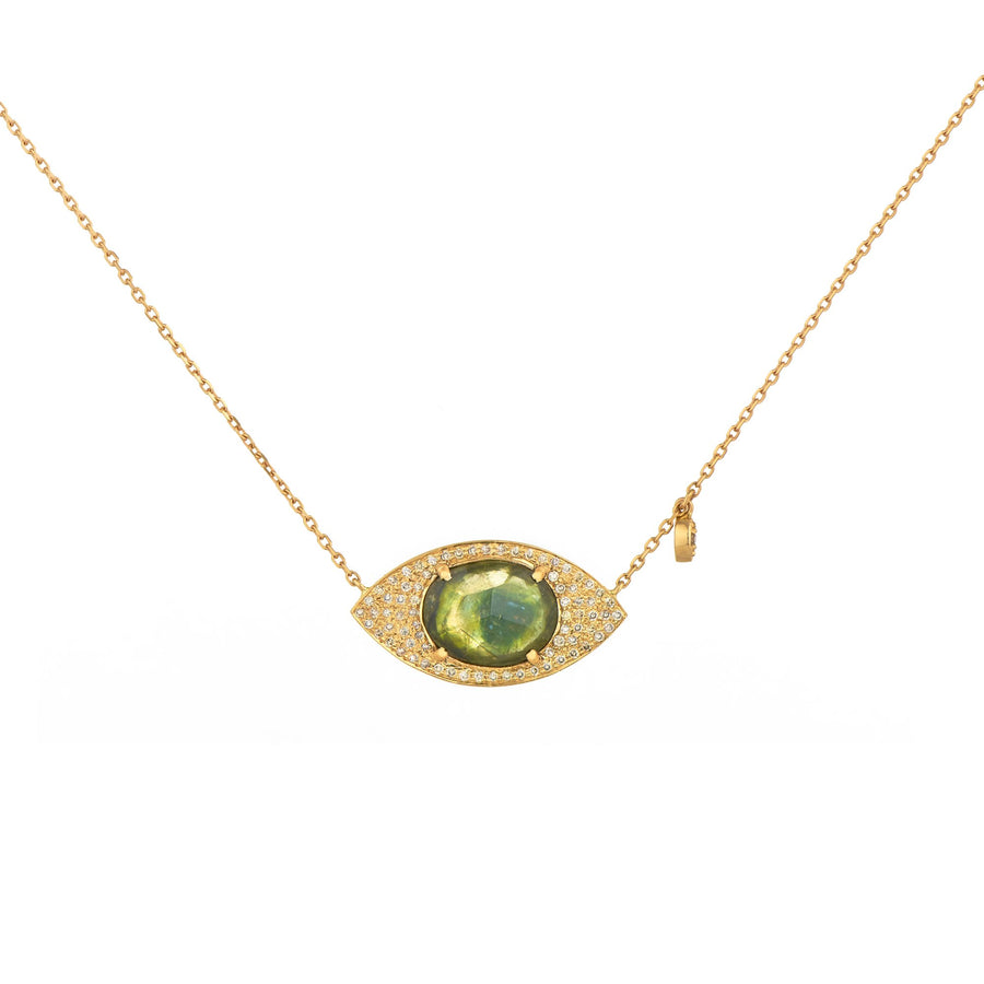 Eye Pendant with Tourmaline Necklace