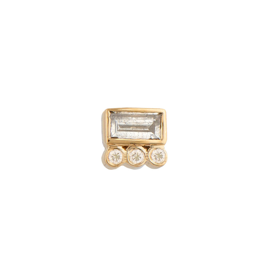Diamond Baguet Earring