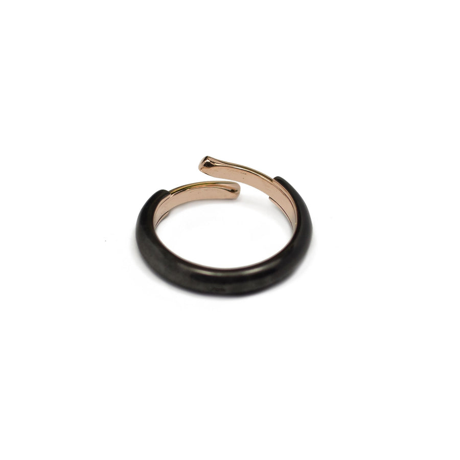 Ring 404 Black & Pink Gold Pm