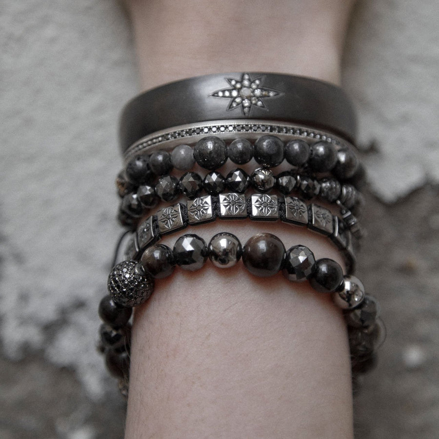 Star Black Rhodium Cuff
