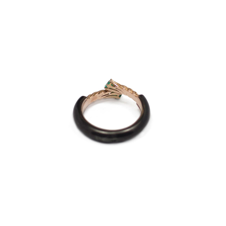 Ring 404 Black & Emerald Gold